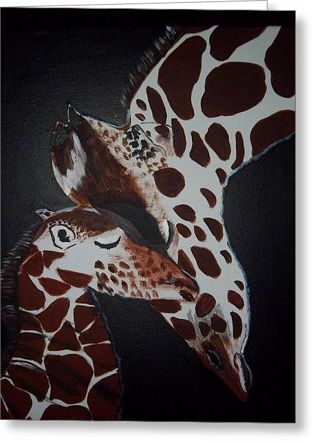 Momma And Baby Greeting Card by Donna Bird
