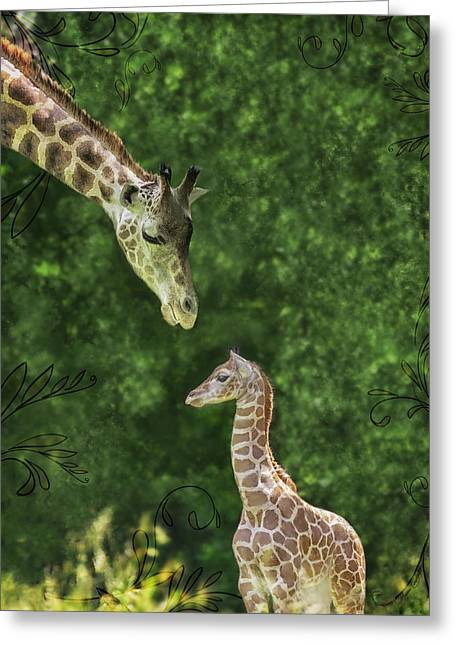 Momma Loves Me Greeting Card by Marianne Campolongo