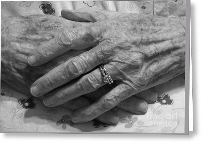 Mommas Hands Greeting Card by D Hackett