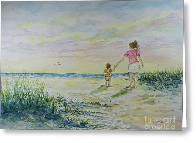Mommy And Me At The Beach Greeting Card