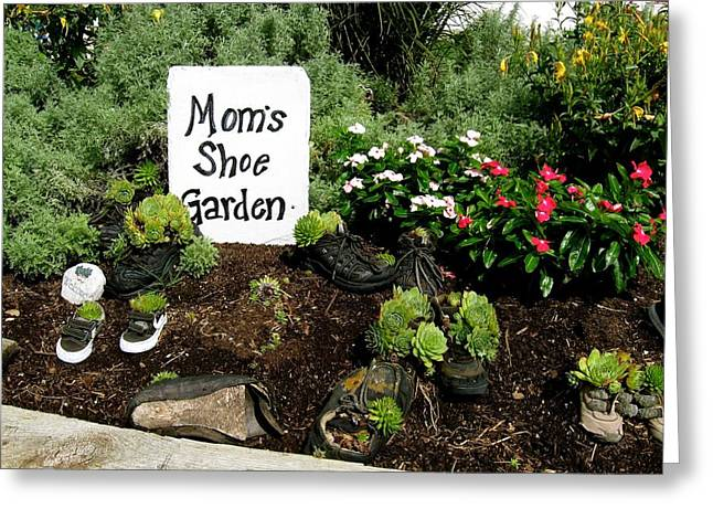 Moms Shoe Garden Greeting Card
