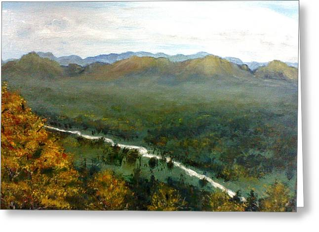 Greeting Card featuring the painting Mom's Valley by J L Zarek