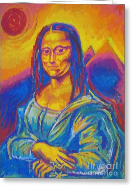 Mona Greeting Card by Jedidiah Morley