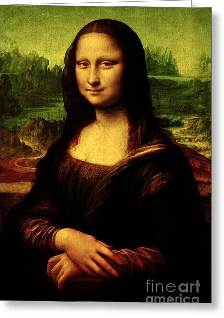 Mona Lisa Greeting Card by Da Vinci