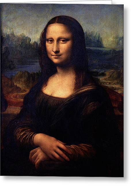 Greeting Card featuring the painting Mona Lisa II by Karon Melillo DeVega