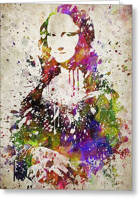 Mona Lisa In Color Greeting Card by Aged Pixel