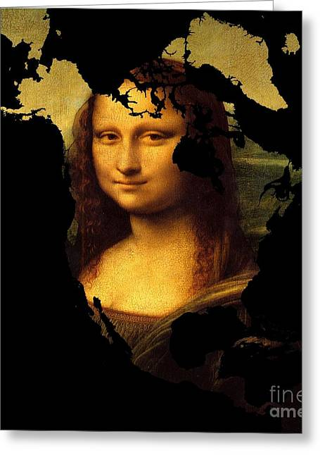 Mona Lisa  North America Greeting Card by John Clark