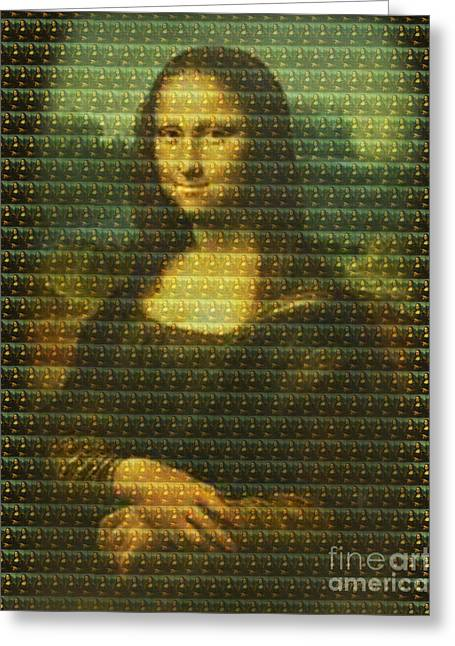 Mona Mosaic Greeting Card