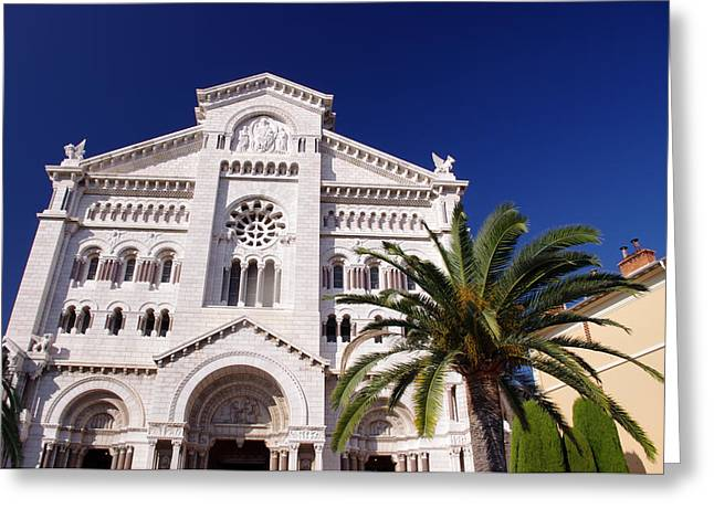 Monaco Cathedral Greeting Card by Ioan Panaite