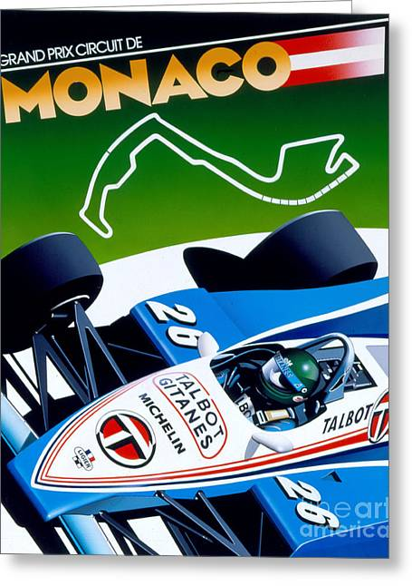 Monaco Greeting Card by Gavin Macloud