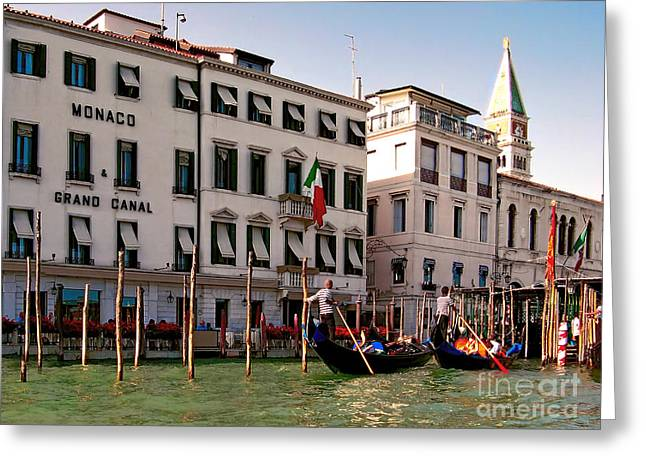 Monaco Grand Canal.venice Greeting Card