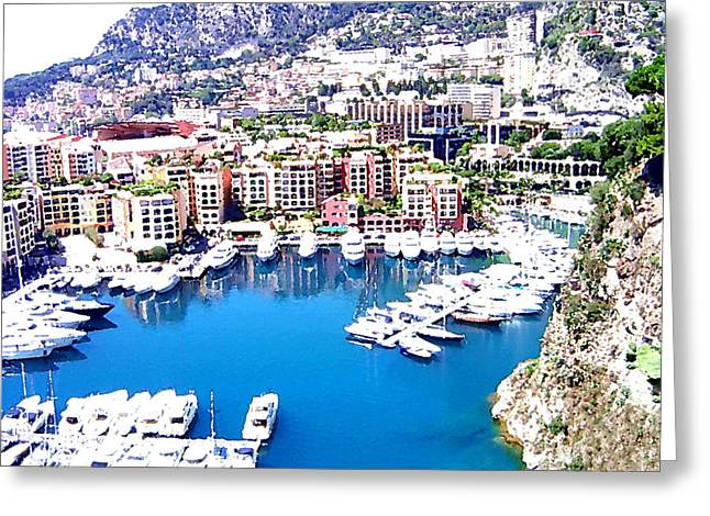 Greeting Card featuring the photograph Monaco by Marwan Khoury