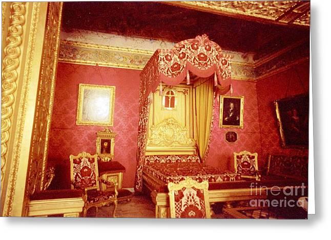 Monaco Palace Bedroom Greeting Card