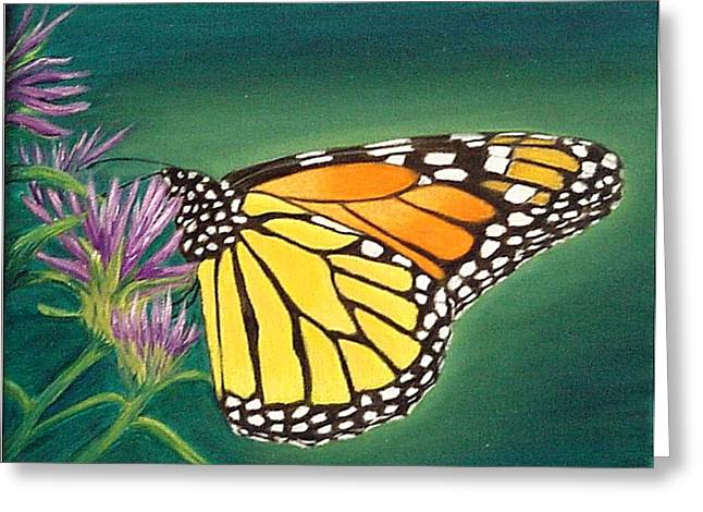 Monarch And Liatris Greeting Card