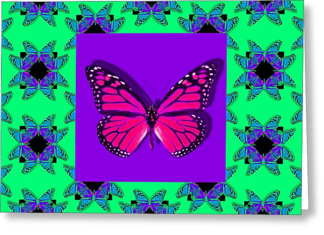 Monarch Butterfly Abstract Window 20130203p148 Greeting Card by Wingsdomain Art and Photography