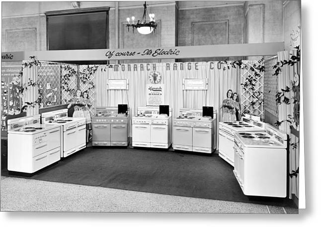 Monarch Electric Range Display Greeting Card by Underwood Archives