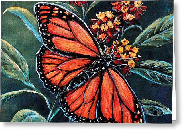 Monarch Greeting Card by Gail Butler