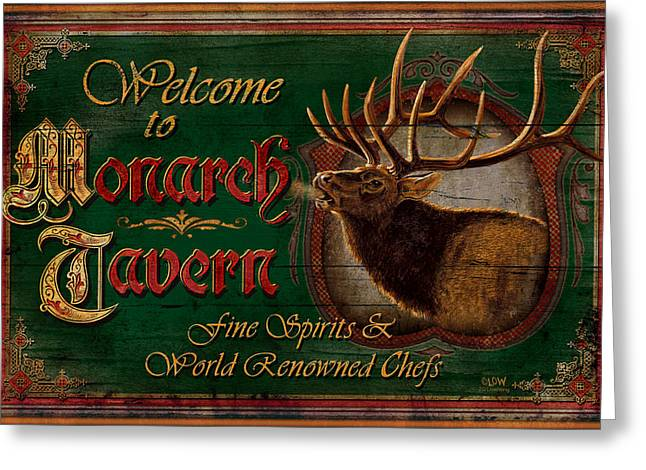 Monarch Tavern Greeting Card by JQ Licensing