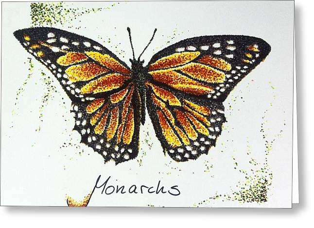 Monarchs - Butterfly Greeting Card by Katharina Filus