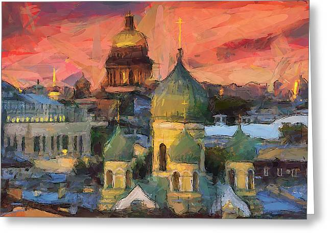 Monastery At Sunset Greeting Card by Yury Malkov