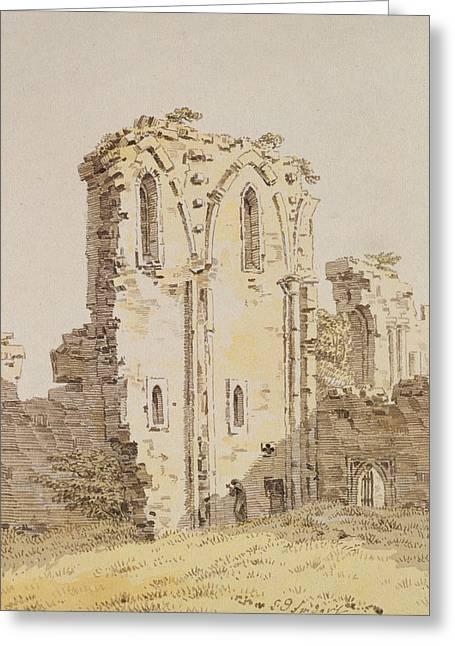 Monastery Ruins Greeting Card