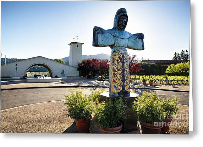 Mondavi Winery In Napa Valley  Greeting Card by George Oze