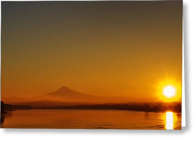 Monday Morning Columbia River Mount Hood Greeting Card