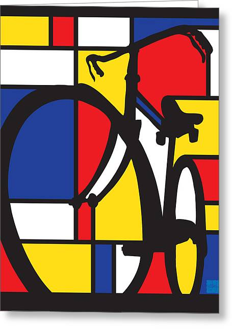 Mondrian Bike Greeting Card