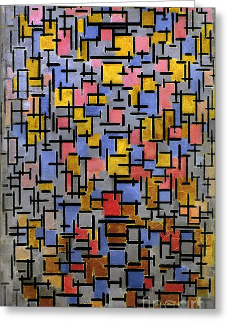Mondrian Composition 1916 Greeting Card by Granger