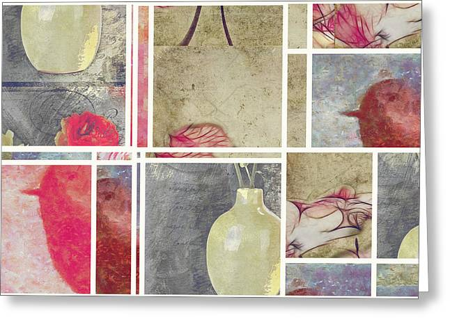 Mondrianity - Art 01 Greeting Card by Variance Collections