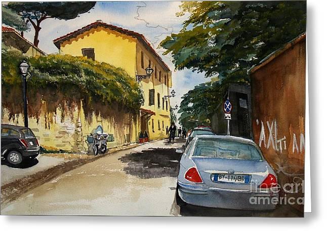 Monestero Foresteria Rome Greeting Card