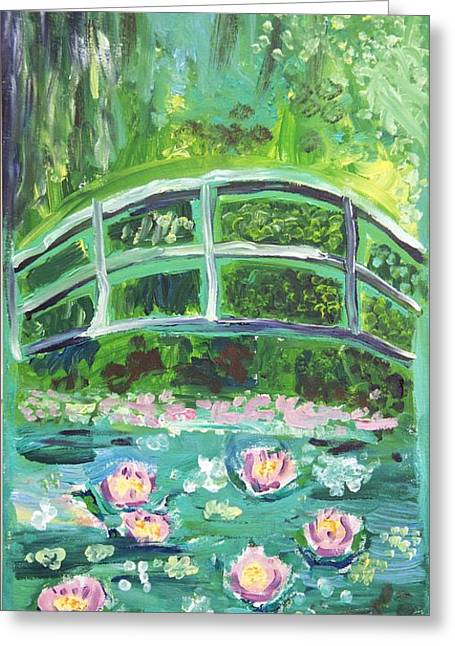 Monet 1899 Bridge Over A Pool Of Water Lilies Greeting Card by Ethan Altshuler