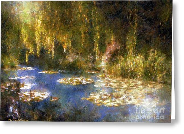 Monet After Midnight Greeting Card