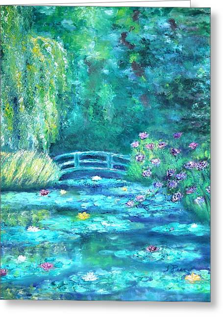 Monet Bridge Dream Greeting Card