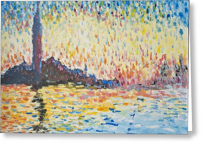 Monet Evening In Venice Greeting Card