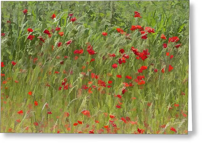 Monet Poppies IIi Greeting Card