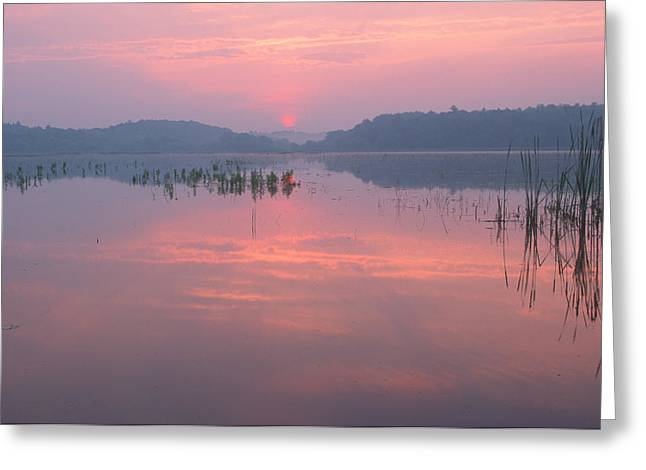 Monet Sunrise Great Meadows Concord Ma Greeting Card
