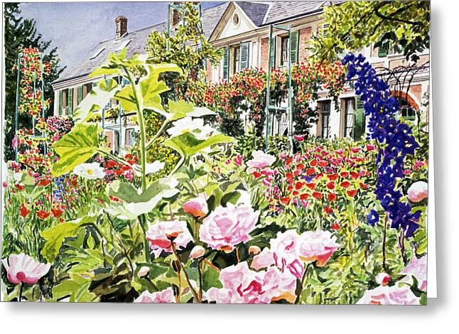 Monet's Garden Giverny Greeting Card by David Lloyd Glover