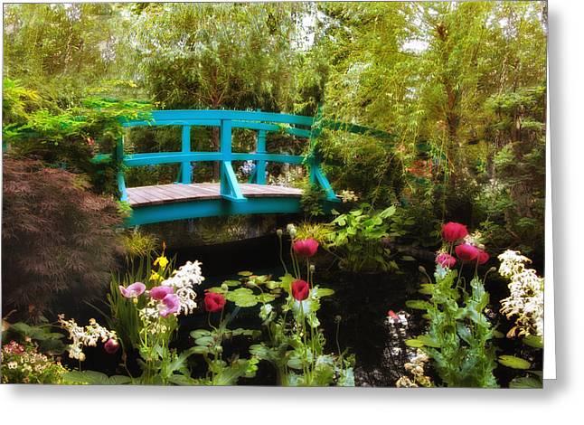 Monet's Garden Greeting Card