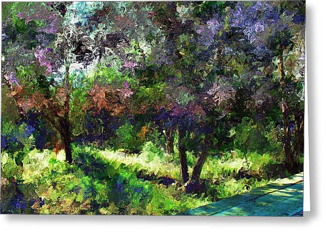 Monet's Garden Greeting Card by Terence Morrissey
