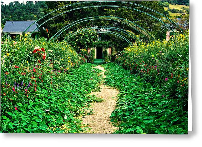 Monet's Gardens At Giverny Greeting Card by Jeff Black