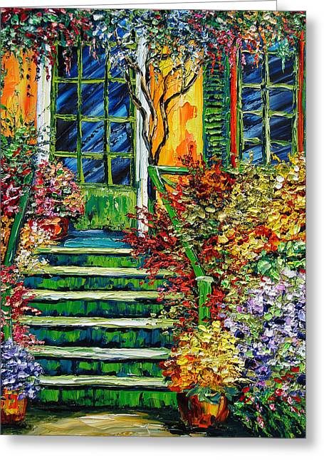 Monet's Giverny Oil Painting Greeting Card by Beata Sasik