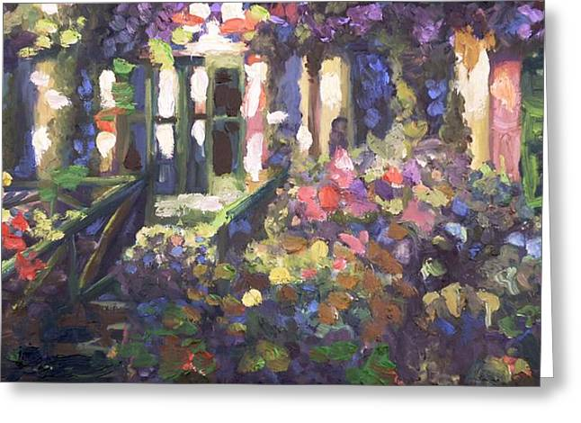 Monet's Home In Giverny Greeting Card by Donna Tuten