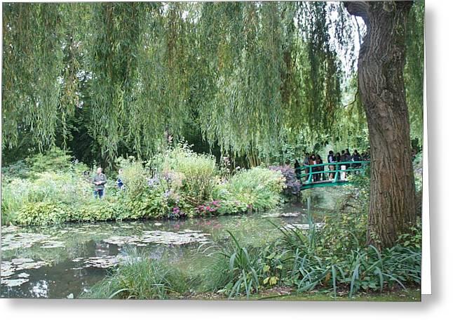 Monet's Japanese Bridge Greeting Card by Kristine Bogdanovich