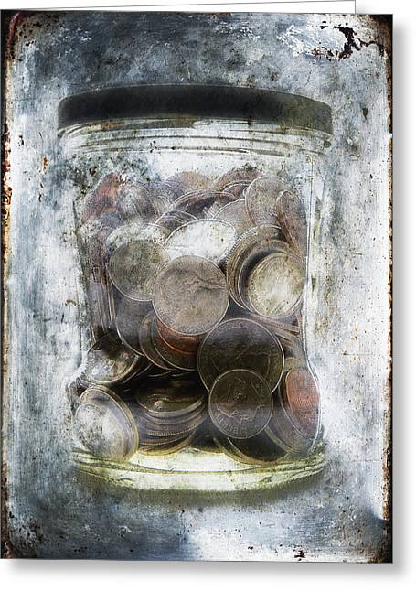 Money Frozen In A Jar Greeting Card