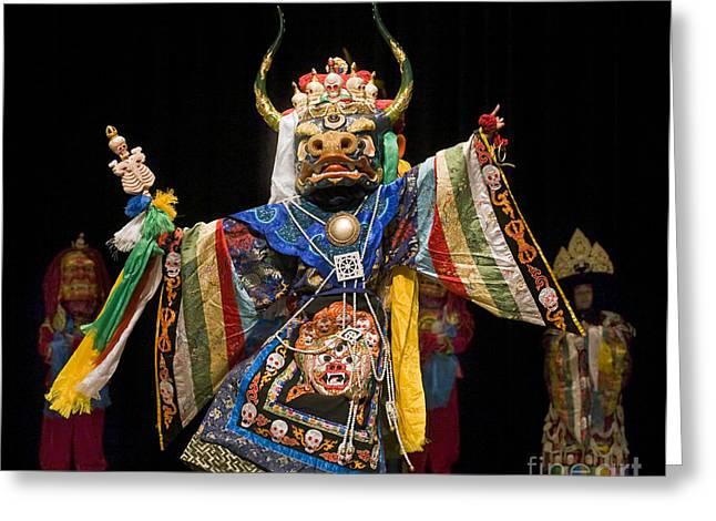 Mongolian Yak Dancer  Greeting Card
