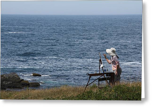 Monhegan Artist Greeting Card