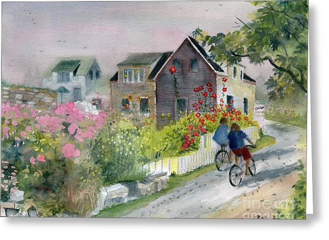 Monhegan In August Greeting Card