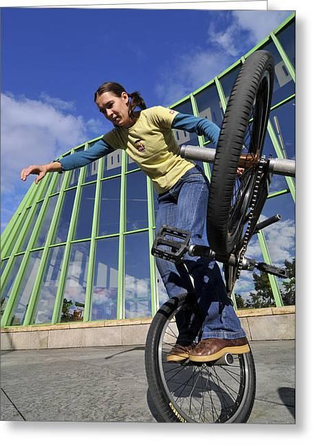 Monika Hinz Riding Bmx Flatland Greeting Card