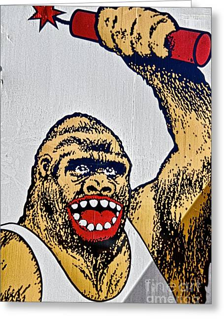 Monkey Around Greeting Card by Ken Williams